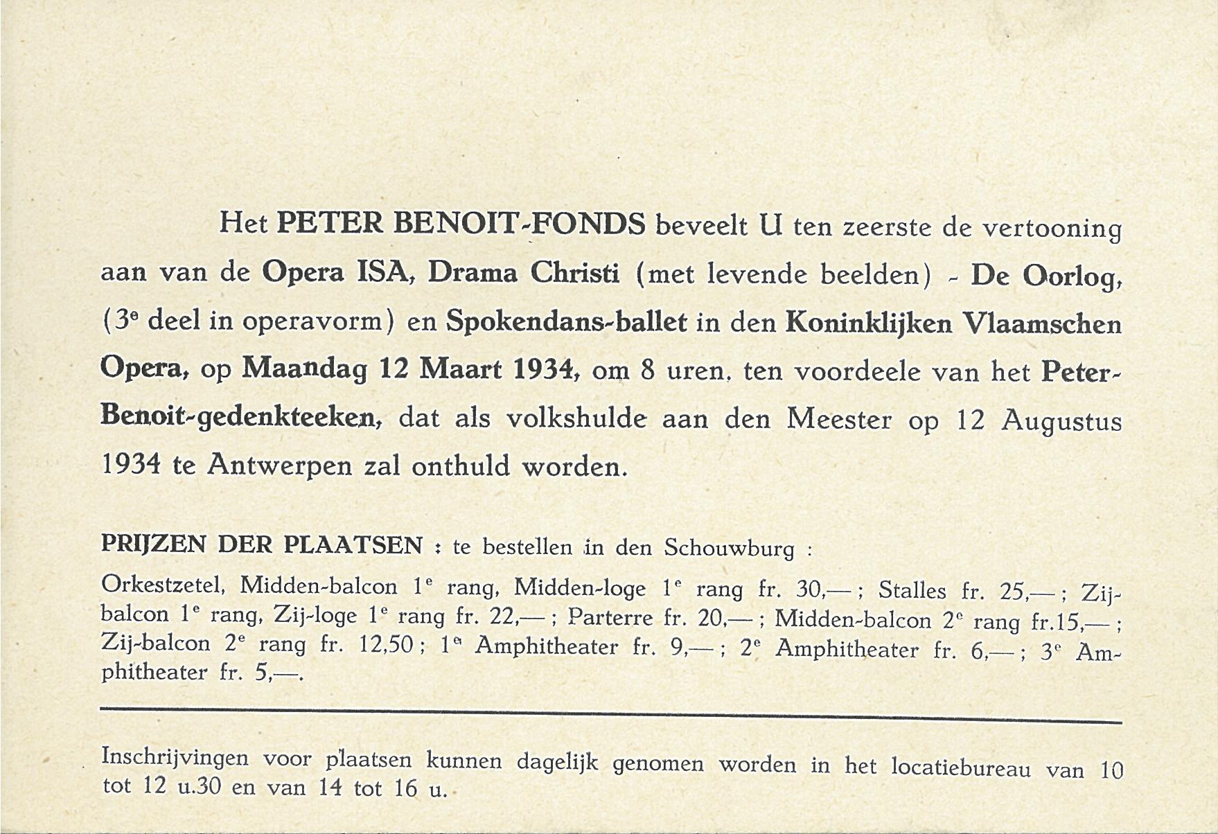 Herdenkingsmonument Peter Benoit