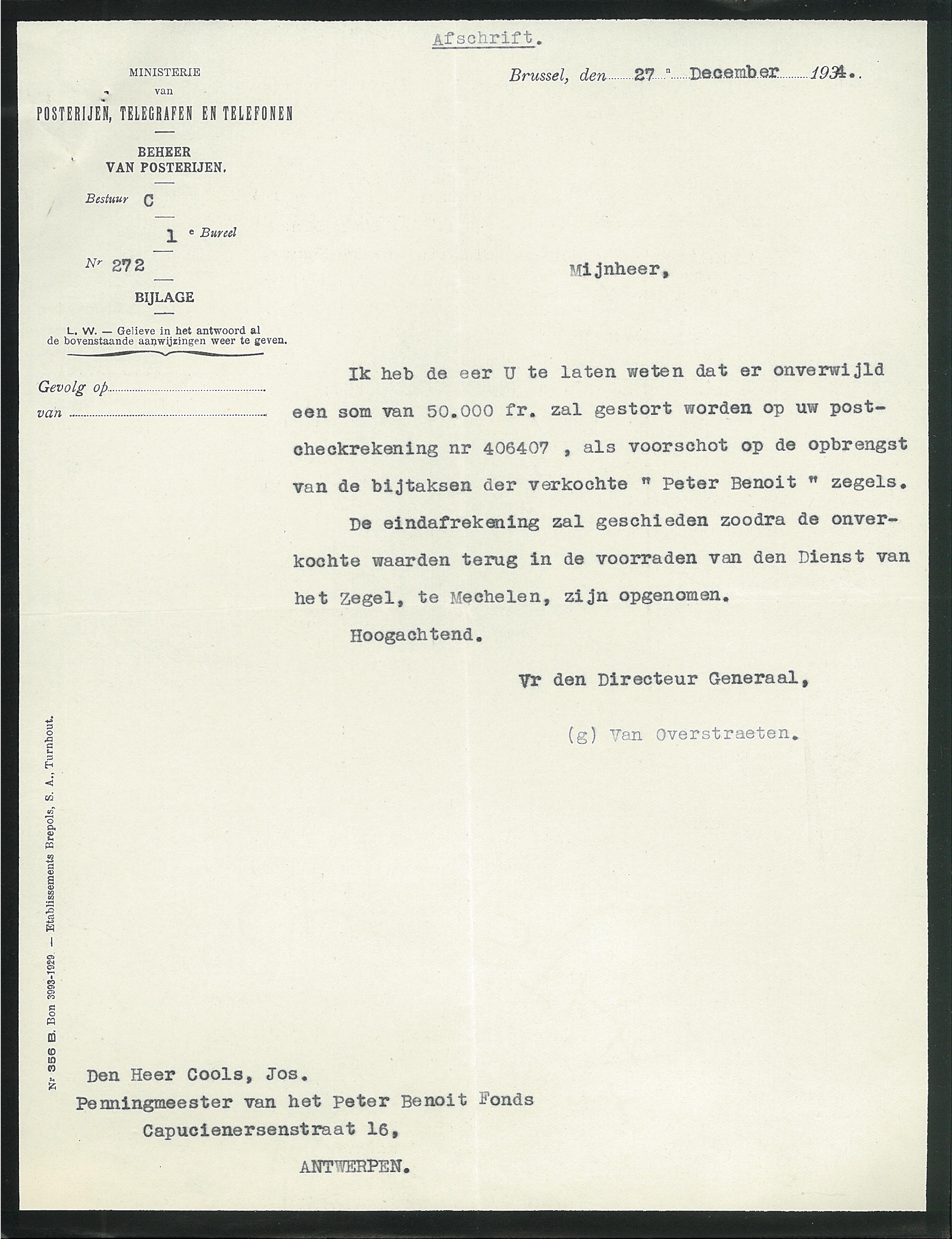 voorbeeldbrief verkoop auto Herdenkingsmonument Peter Benoit voorbeeldbrief verkoop auto